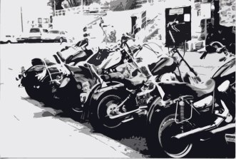Motor-cycles-stylized